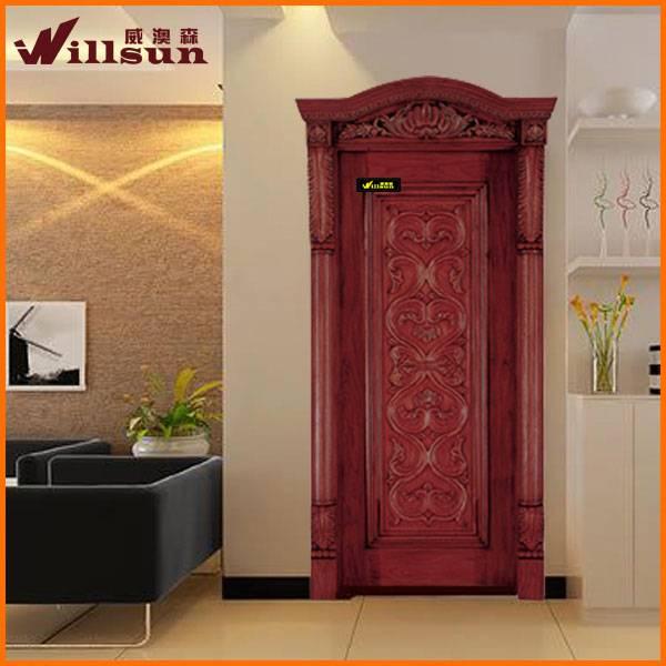 solid wood front door design