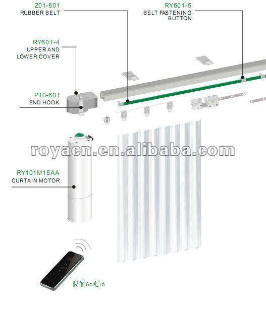 smart home automatic electric curtain open-close motor