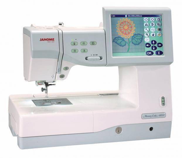 Janome 11000 Memory Craft Special Edition Sewing and Embroidery Machine