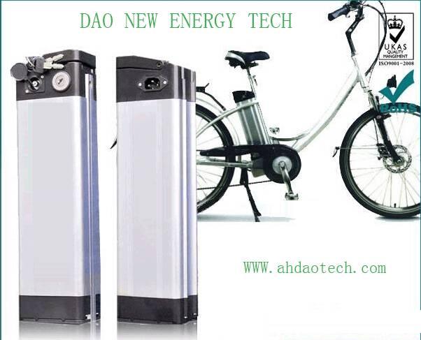 48V 10Ah li-ion e-bike battery pack, removable type