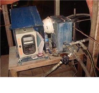 Grout flow meter (sensor separated type)