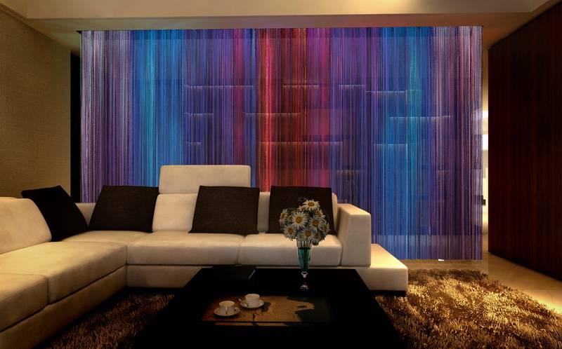 Bintronic Motorized Fringe Curtains with LED (BT-MSC)