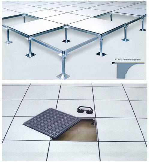 Produce steel access flooring system