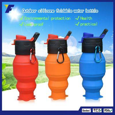 Wholesale Silicone Foldable Water Bottle, New Fashion Kids Water Bottle