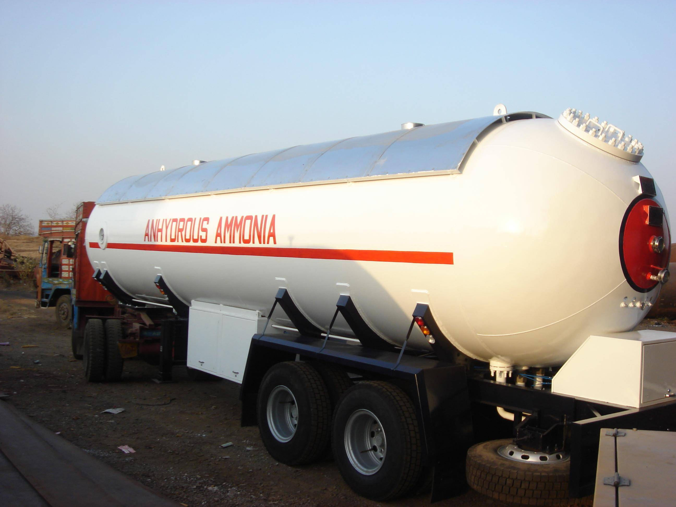 Anhydrous Ammonia transport tanker