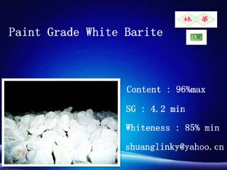 White Barite Paint Grade Barite Powder