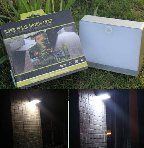ELS-06P Motion sensor solar wall led light with rechargable polymer li-ion battery