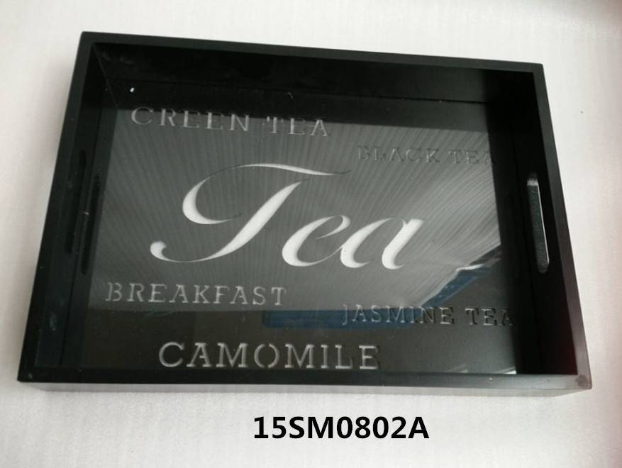 mdf tray with black color