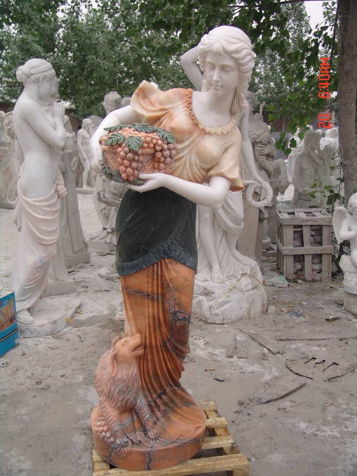 China White Marble,White Sculpture,Multicolor Marble Human Sculptures & Statues, Western Style Sculp
