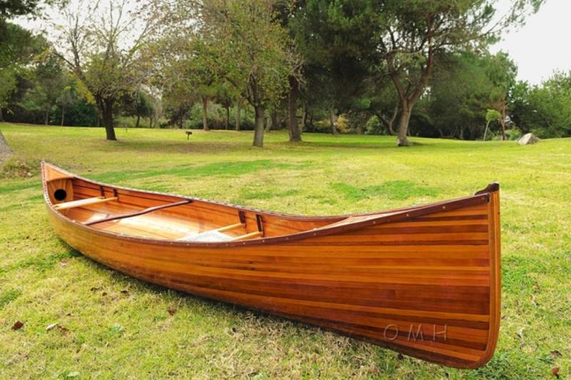 Real wooden canoe L480