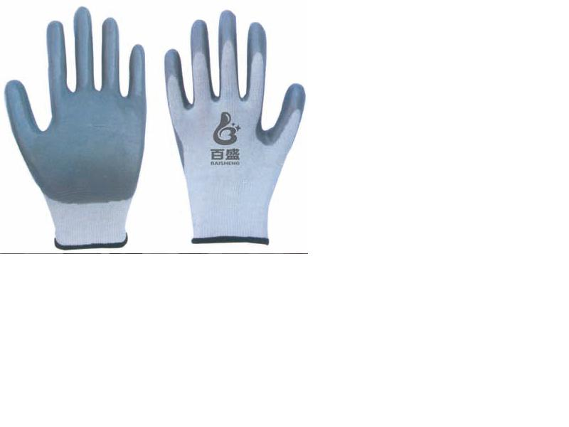 13G polyester glove with Nitrile coated
