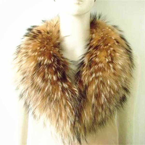 Real Raccoon Fur Collar Faux Fur Lined Parka Womens Garment