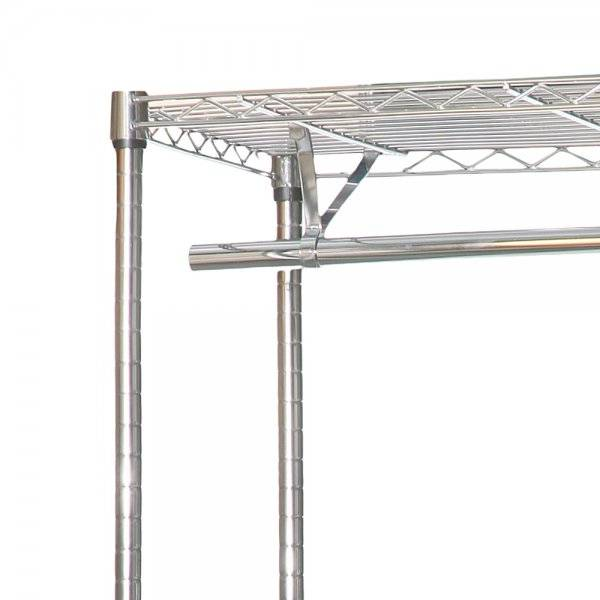 Selling chrome clothes rack with rails