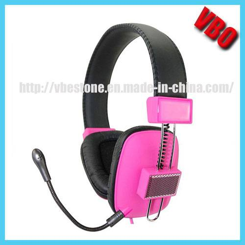 Hot Selling Wired Computer Headphonen with Detachable Microphone
