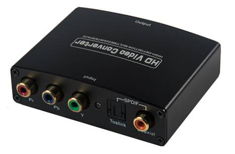 YPbPr to HDMI converter with R/L Audio Converter