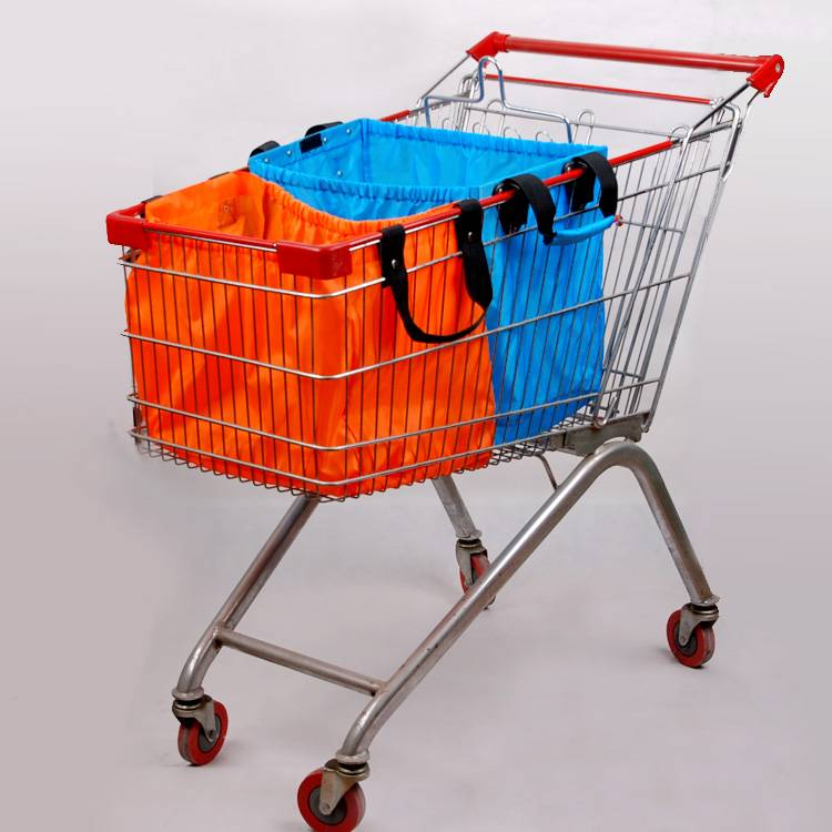 2014 new Folding supermarket cart Bag with hook from factory