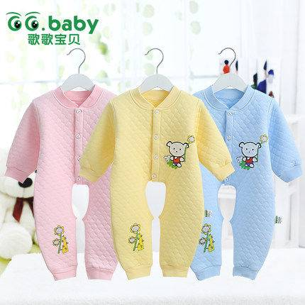 Autumn Winter Long Sleeve Baby Romper Unisex Newborn Baby Girl Winter Clothing Cotton