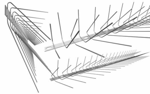 Swallow spikes for swallow control in 4 row spikes cover 15cm width