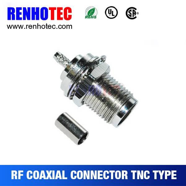 TNC Jack Bulkhead Crimp Connector For Cable RG58/RG59/RG6