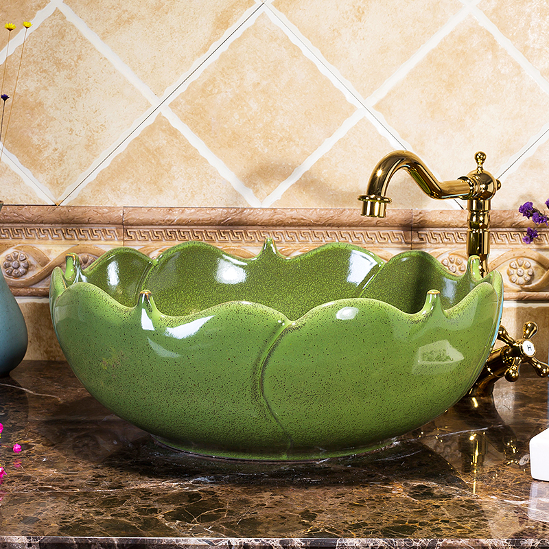 Restaurant High-end Luxury Above Counter Top Washstand Without Faucet Ceramic Wash Basin Sinks