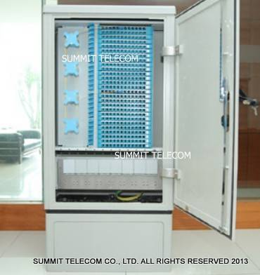 Fiber Optic Cross Connection Cabinet 288 Core 576 Core, Fiber Distribution Hub Street Cabinet