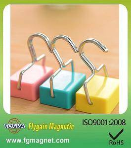 colorful plastic magnetic hook