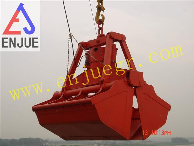 hydraulic clamshell bucket