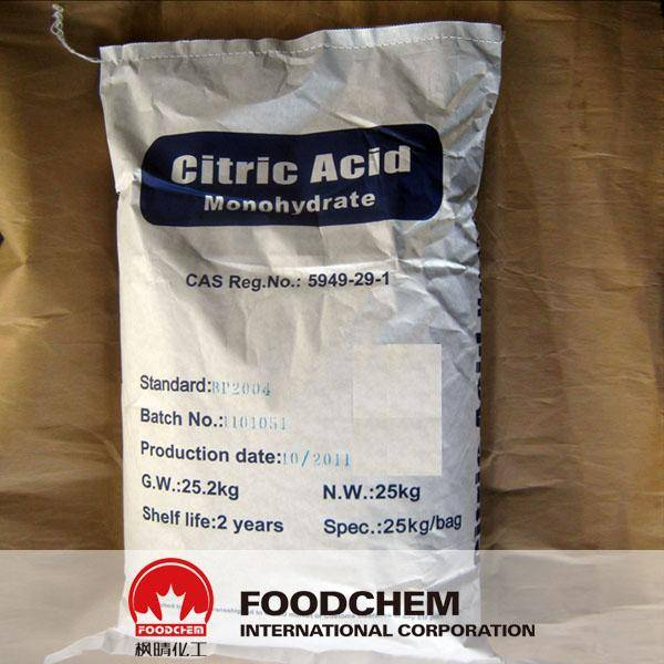 Food Grade Citric Acid Monohydrate E330 BP98