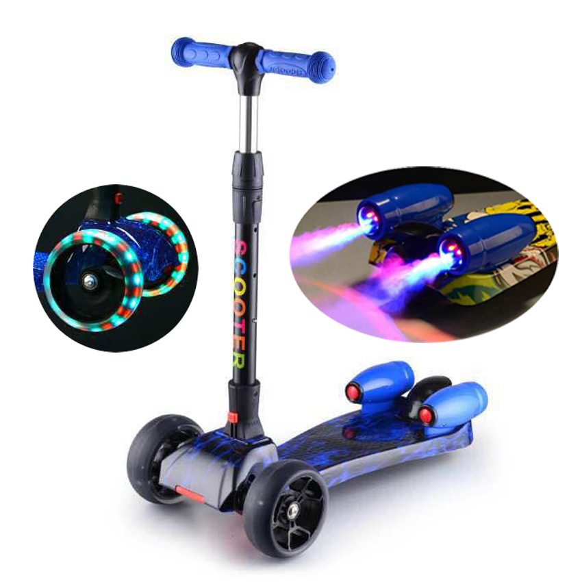 HUGO China factory wholesale kids kick scooter with music and jet spray