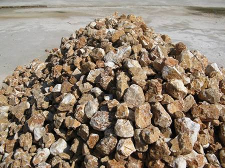Barite lump for petrolem industry