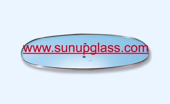 oval shape glass lids for oval shape cooking pot