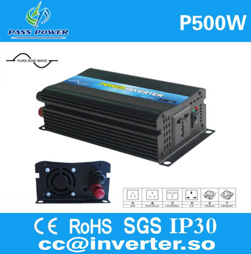 Factory Direct Sell 500W Pure Sine Wave Car Power Inverter