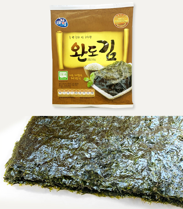 Korean Healthy seafood brand by Wando Badamom Dried Laver