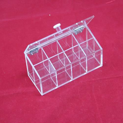 Wholesale custom rectangular clear acrylic storage box crystal jewelry display case with lid