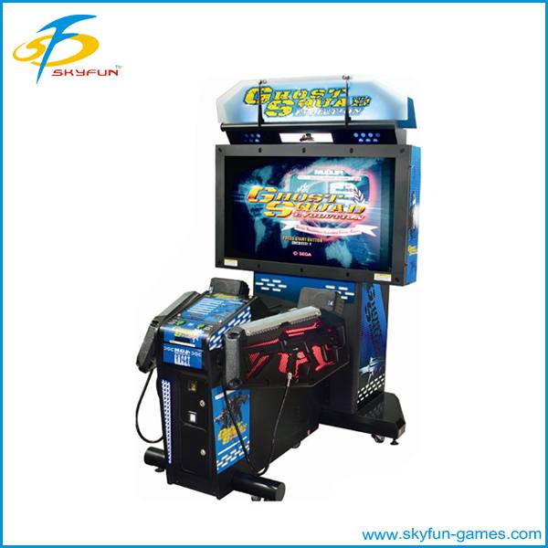 Coin operated electronic shooting machine
