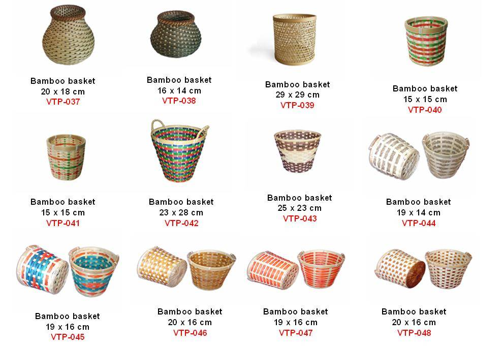 vietnam natural bamboo rattan basket, nice bamboo basket, high quality rattan basket