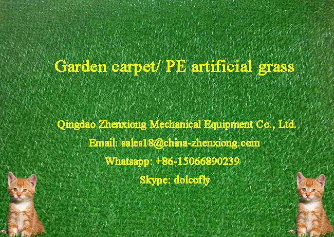 Artificial grass carpet production line