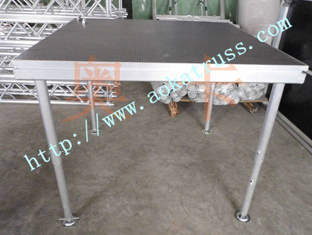 1.221.22m four legs aluminum collapsible stage (made in china)