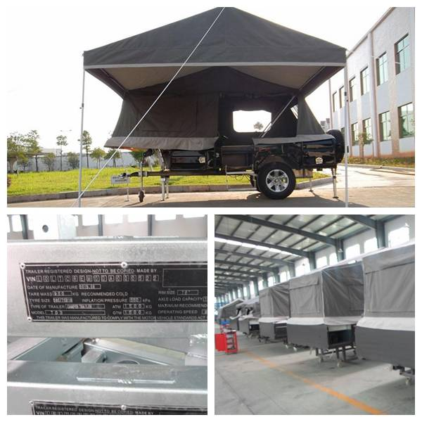 ADRs 62 Off road camping trailer with annex room and awning including the skirt