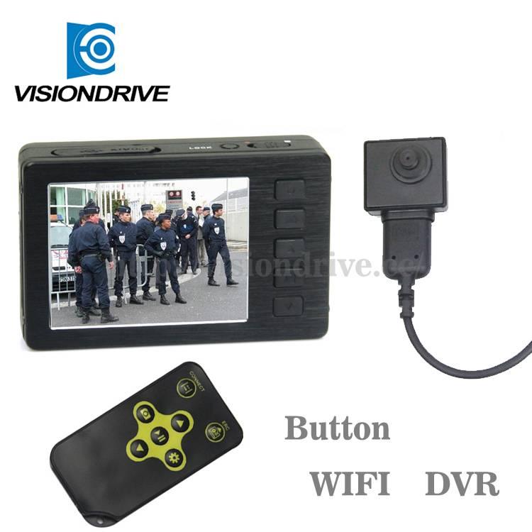 1080P police camera mini button DVR with video audio spy camera recoder
