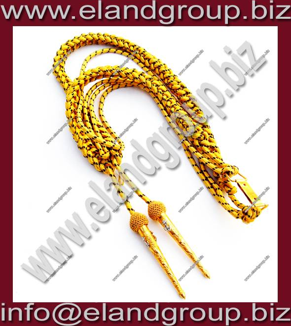 Navy military uniform Aiguillette