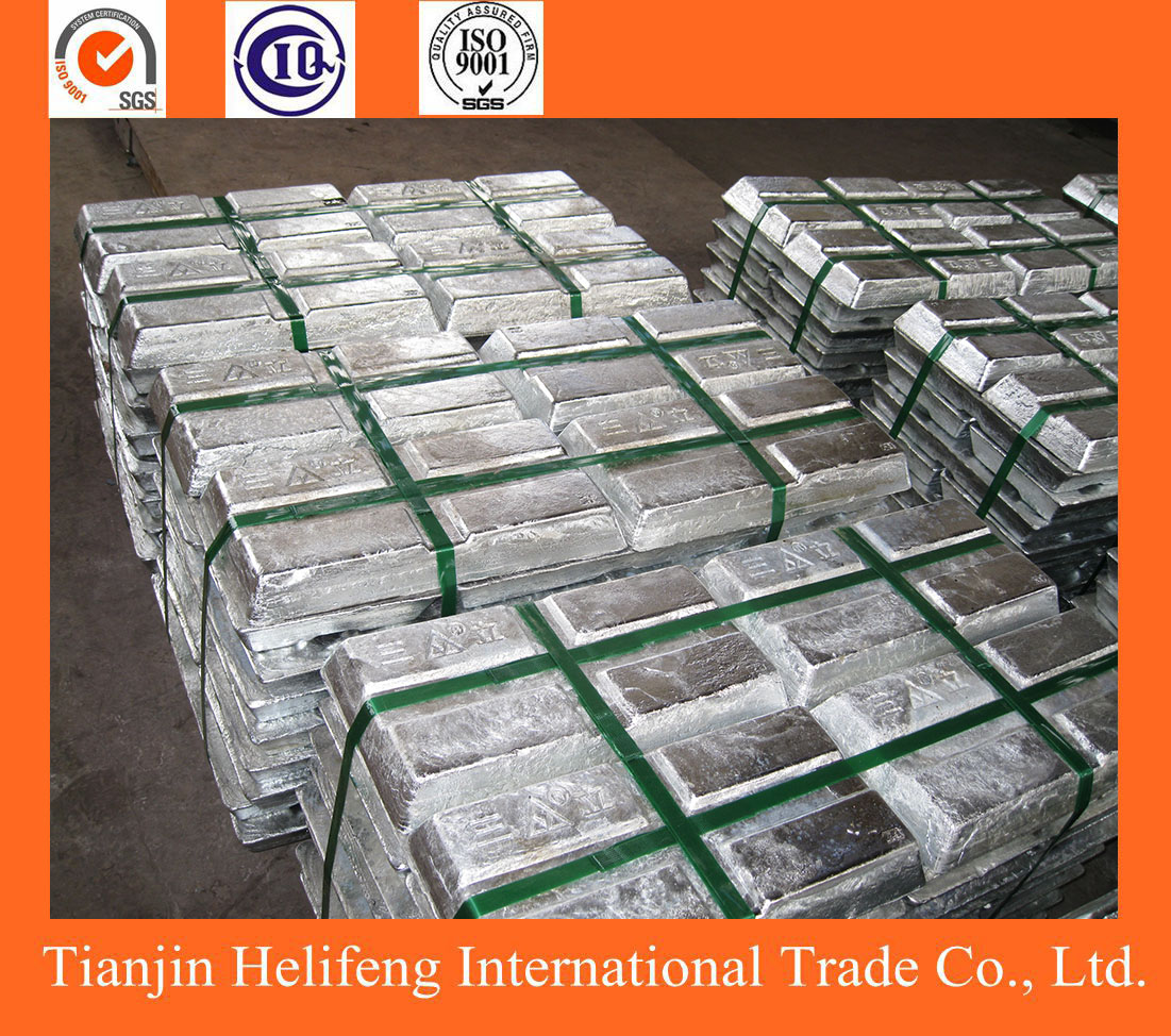 High purity metal material zinc ingots for sale