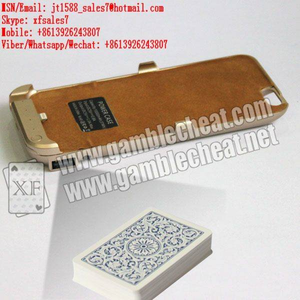 .XF camera of charger case for iPhone 6 mobile phone for poker analyzer
