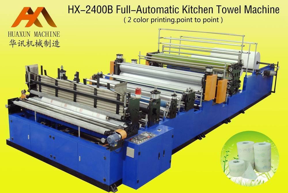Sell HX-2400B/2C Full-automatic Printing Kitchen Towel Machine