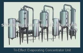 Tri-Effect Evaporating Concentrator Unit