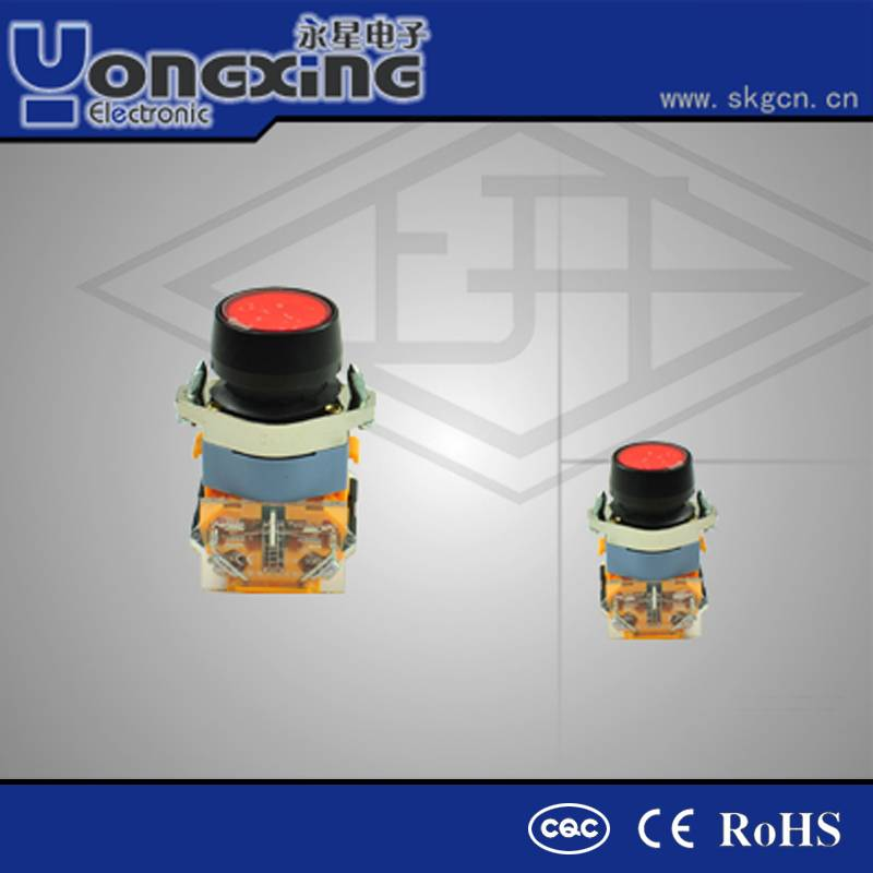 22mm AC660V illuminating red electric switch making machines