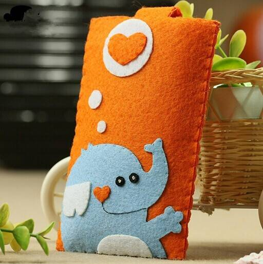 lovely custom eco-friendly felt mobile phone case cover