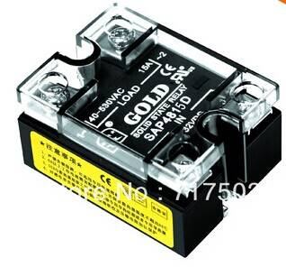 free shipping Single phase AC solid state relay SAP4815D input 3-32VDC 15A ssr DC control AC relay