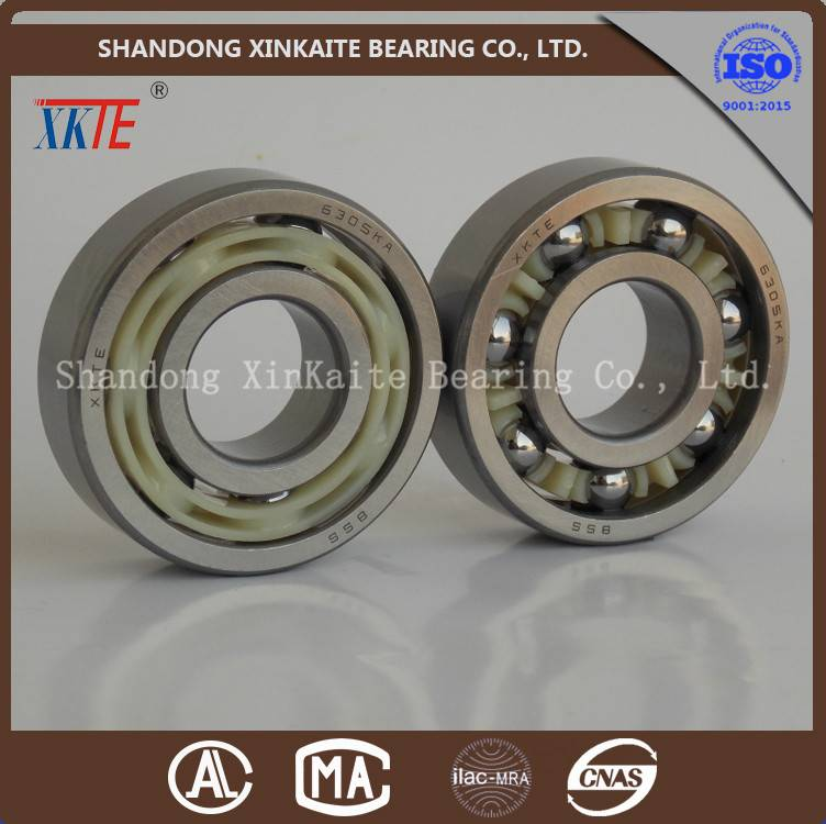 XKTE brand nylon cage 6307TN/C3/C4 idler roller bearing distributor from china bearing manufacture