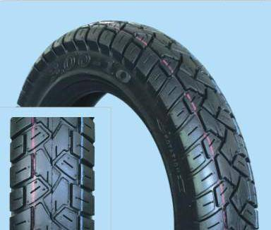 Motorcycle tubeless tire 3.00-10